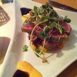 wasabi crusted ahi tuna