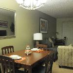Combined dining & living room.