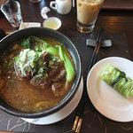 Fabulous beef & noodle soup.