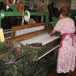See and hear the old looms working.