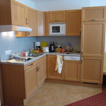2 person room, kitchen