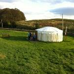 8 person yurt which we stopped in