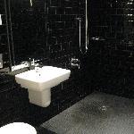 Shower room for a superior room