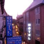 View up Calle Prado