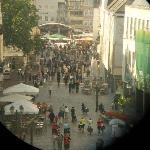 Hauptmarkt -Binoculars view from Porta Nigra