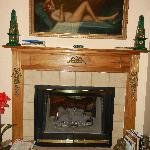 The fireplace was in the living space and bathroom!