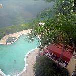 La piscine vue du 6e étage