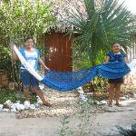 The girls in this village make spectacular hammocks