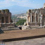 Teatro Greco with Mt. Etna