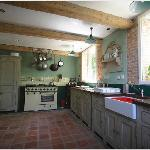 The kitchen in the cottage