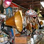 Inside store of Edison memorabilia