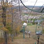 ski lift in the fall