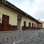 The view of the outside from the street (Honorato Vasquez)