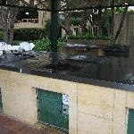 BBQ area very clean