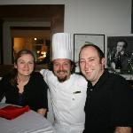 Picture taken with Chef Miguel and my wife after our dinner, drinks, and dessert