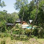 Instalaciones desde el frente del arroyo Ramón