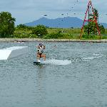 Wake boarding cable park