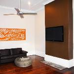 Huge TV Room with Cable