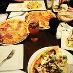 Yummy pizza, especially the kabab.
