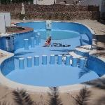 Me in new swimming pool with bar! (water was coming that day)