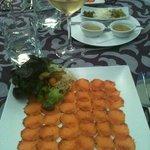 smoked salmon Romantica style!!