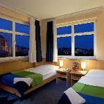 Hotel room by night