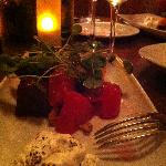 Watermelon & Beet Salad with Whipped Bleu Cheese