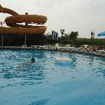 Water slides and pool