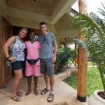 Us with Edith, saying goodbye on our last morning