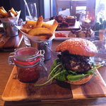 Absolutely delicious steak burger!