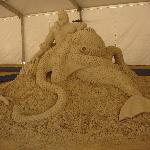 Sand sculpting competition while we were there!