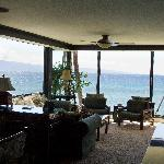 Living room and beautiful views.