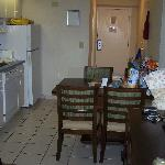 This is the kitchen dinning room area