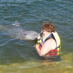 Kissed by a dolphin