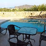Our apartment terrace with pool at Lofos
