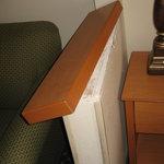 damaged shelf in room
