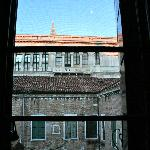 View of the Doge's Palace out of the bedroom window.