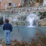 The thermal waterfalls