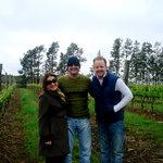 Otavia, Marianna, Ryan in the Vineyards