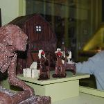 Chocolate sculptures and handcrated pieces