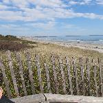 footbridge beach (à pied)
