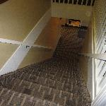 Have fun lugging your suitcases up these stairs!
