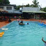the pool area!