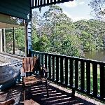 Private verandahs are a feature of all cabins