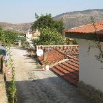 road leading to hotel