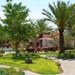 jardins intérieurs du lodge