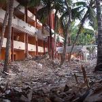 Domenica hotel in rubble