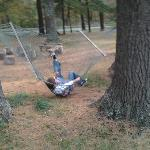 Me not getting to grips with the hammock
