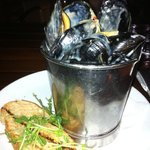 Delicious black mussels @ the Boathouse