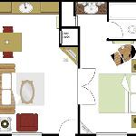 King Wetbar Suite- Layout